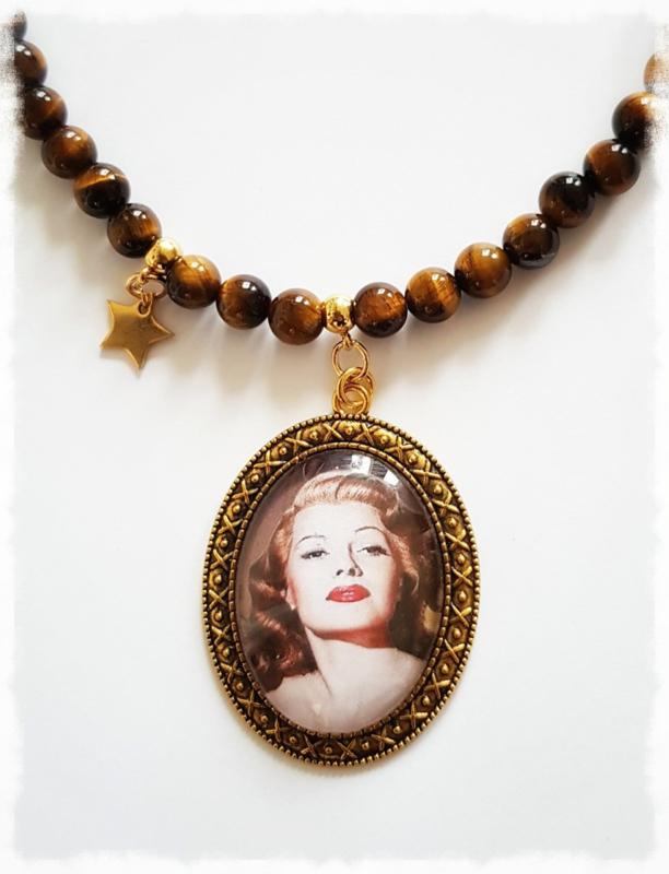 Ketting - Rita Hayworth - gold