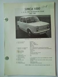 Simca 1000  Vraagbaak ATH 64-67 #1 Nederlands