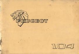 Peugeot 104  Instructieboekje 78 #2 Nederlands Duits Frans Italiaans
