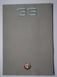Alfa Romeo 33  Brochure 90 #1 Nederlands