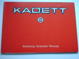 Opel Kadett D  Instructieboekje 84 #2 Duits