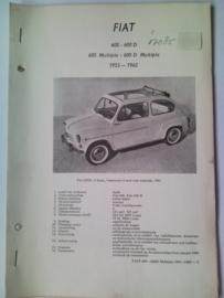 Fiat 600 600 D Multipla  Vraagbaak ATH 55-62 #2 Nederlands