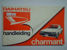 Daihatsu Charmant  Instructieboekje 85 #1 Nederlands