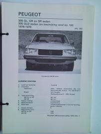 Peugeot 305  Vraagbaak ATH 78-79 #1 Nederlands