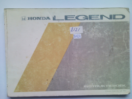 Honda Legend  Instructieboekje 86 #1 Nederlands