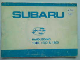 Subaru 1300 1600 1800  Instructieboekje 81 #1 Nederlands