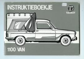 Talbot 1100 VAN  Instructieboekje 81 #1 Nederlands