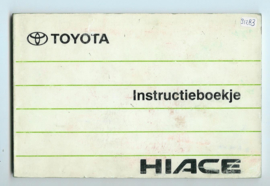 Toyota Hiace  Instructieboekje 90 #3 Nederlands