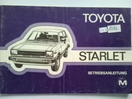 Toyota Starlet  Instructieboekje 80 #1 Duits