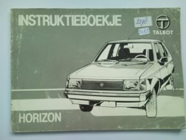 Talbot Horizon  Instructieboekje 82 #1 Nederlands
