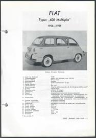 Fiat 600 Multipla  Vraagbaak ATH 56-59 #1 Nederlands