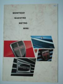 Austin Mini Metro Maestro Montego  Brochure 85 #3 Nederlands