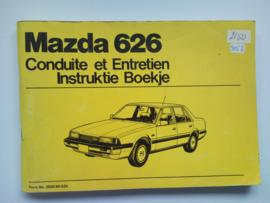 Mazda 626  Instructieboekje 82 #1 Nederlands Frans