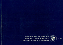 BMW 1500  Instructieboekje 63 #1 Engels Frans Duits