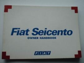 Fiat Seicento  Instructieboekje 98 #1 Engels