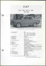 Fiat 1300 1500  Vraagbaak ATH 61-64 #1 Nederlands