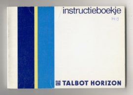 Talbot Horizon  Instructieboekje 85 #1 Nederlands