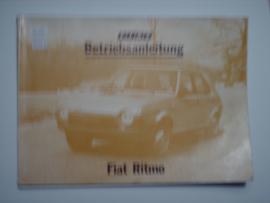 Fiat Ritmo  Instructieboekje 79 #1 Duits