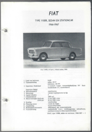 Fiat 1100  Vraagbaak ATH 66-67 #1 Nederlands