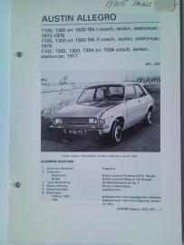 Austin Allegro  Vraagbaak ATH 73-77 #2 Nederlands