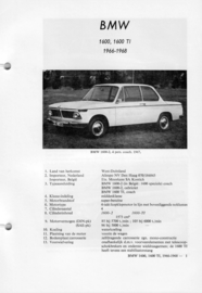 BMW 1600 1600 Ti  Vraagbaak ATH 66-68 #2 Nederlands