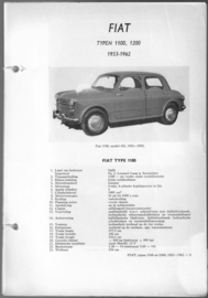 Fiat 1100 1200  Vraagbaak ATH 53-62 #1 Nederlands
