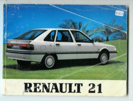 Renault 21  Instructieboekje 89 #1 Nederlands