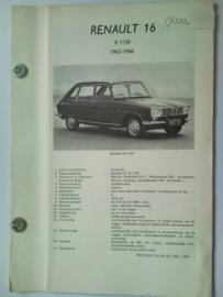 Renault 16  Vraagbaak ATH 65-66 #2 Nederlands