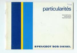 Peugeot 505  Instructieboekje 86 #1 Nederlands Duits Frans Italiaans