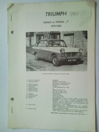 Triumph Herald S  Vraagbaak ATH 59-60 #1 Nederlands