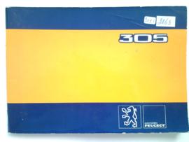 Peugeot 305  Instructieboekje 80 #1 Nederlands Duits Frans Italiaans
