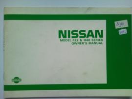 Nissan F22 & H40  Instructieboekje 85 #1 Engels