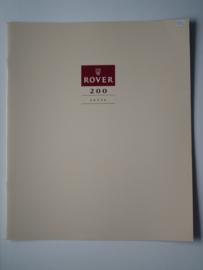 Rover 200  Brochure 90 #3 Nederlands