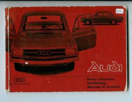 Audi Union  Instructieboekje 65 #1 Nederlands Duits Frans Italiaans