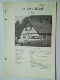 Skoda 1000MB  Vraagbaak ATH 65 #3 Nederlands
