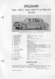 Hillman Minx  Vraagbaak ATH 53-54 #2 Nederlands