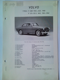 Volvo P1200 P121 P122S  Vraagbaak ATH 61-64 #3 Nederlands