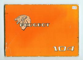 Peugeot 104  Instructieboekje 78 #1 Nederlands Duits Frans Italiaans
