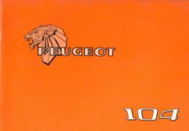 Peugeot 104  Instructieboekje 77 #1 Nederlands Duits Frans Italiaans