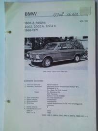 BMW 1600 2000  Vraagbaak ATH 66-71 #2 Nederlands