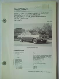 Vauxhall Viva Firenza Magnum  Vraagbaak ATH 72-76 #2 Nederlands