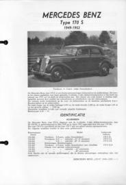 Mercedes-Benz Type 170 S  Vraagbaak ATH 49-52 #1 Nederlands