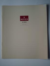 Rover 200  Brochure 90 #6 Nederlands