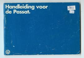 Volkswagen Passat  Instructieboekje 79 #2 Nederlands