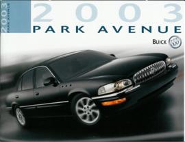 Buick Park Avenue  Brochure .03 #1 Engels