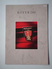 Rover 200  Brochure 88 #1 Nederlands