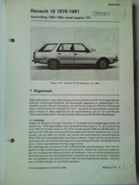 Renault 18  Vraagbaak ATH 78-81 #1 Nederlands