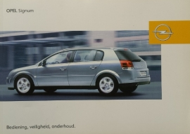 Opel Signum  Instructieboekje 2003 -03 #1 Nederlands