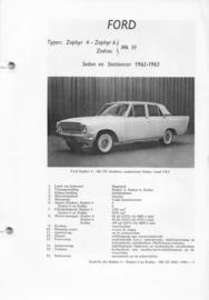 Ford Zephyr V4 en V6 Zodiac V6  Vraagbaak ATH 62-63 #1 Nederlands