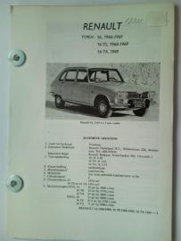Renault 16  Vraagbaak ATH 66-69 #1 Nederlands